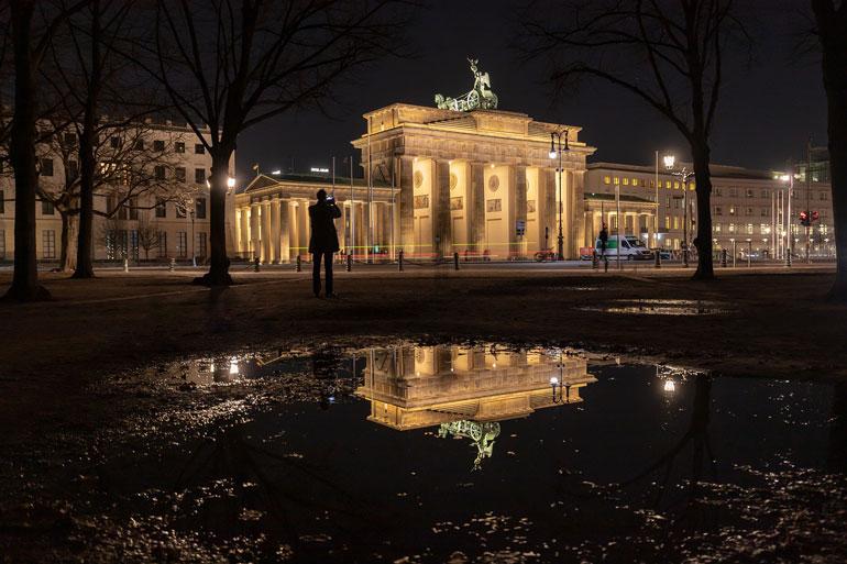 Берлин, Германия бранденбургската врата