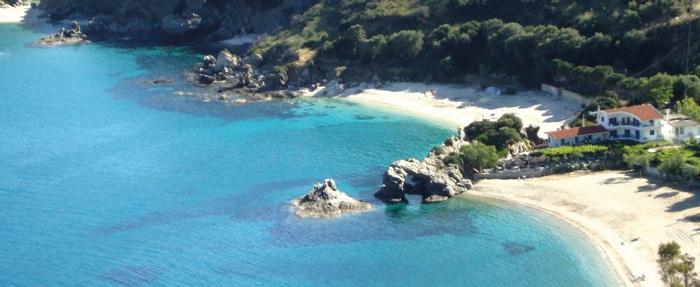плаж в гърция каламос