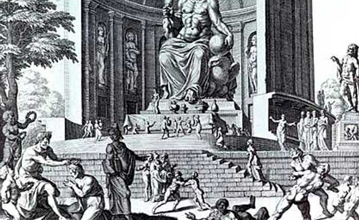 Статуята на Зевс в Олимпия, едно от седемте чудеса на света от древността