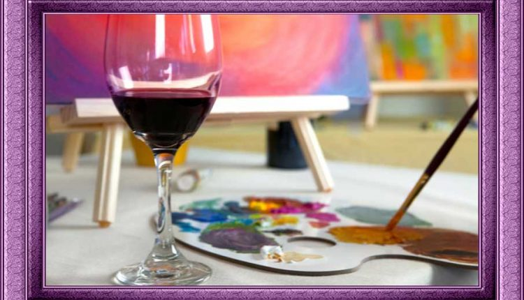 Вълнуващо изживяване за Свети Валентин - чаша вино и четка в ръцете ви