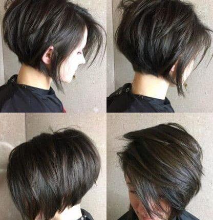 прическа за къса коса Пикси Боб