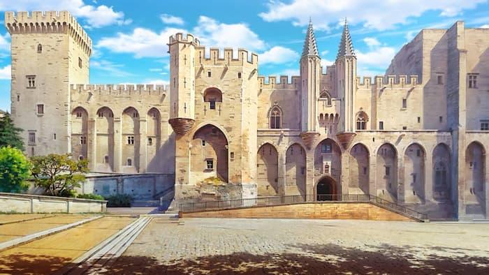 дворецът на папите