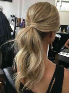 прическа за дъга коса конска опашка